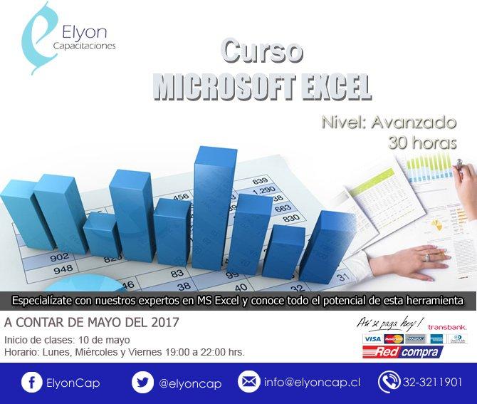 Curso MS Excel nivel Avanzado Viña del Mar