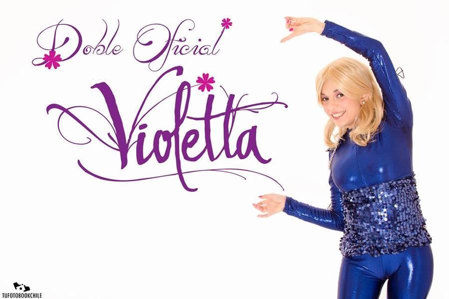 Doble de Violetta para cumpleaños,jardines,colegios y empresas